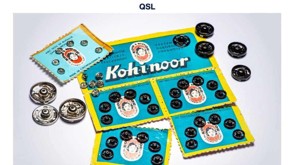 Los broches de presión de Kooh-i-noor,  inventados en 1902 por el proyectista Hynek Puc y el comerciante Jindřich Waldes. Foto: Khalil Baalbaki,  Radio Checa