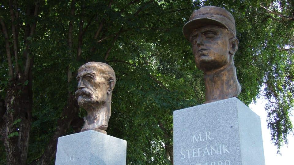 Bustos de Masaryk y Štefánik en Košice,  foto: Marián Gladiš,  CC BY-SA 3.0