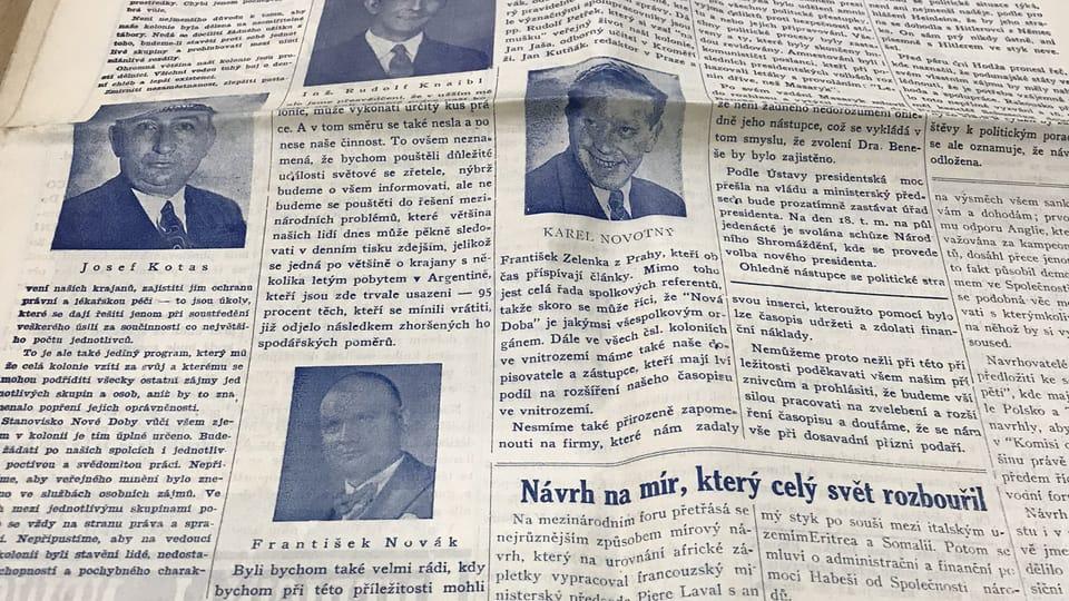 Nová Doba,  el ejemplar en tinta azul | Foto: Juan Pablo Bertazza,  Radio Prague International