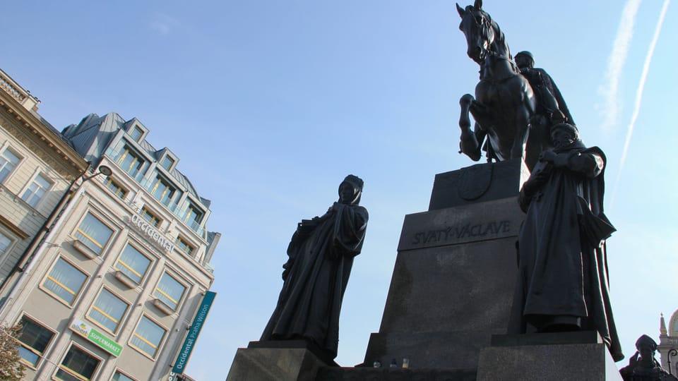 Monumento a san Venceslao en la plaza Venceslao de Josef Václav Myslbek,  foto: Barbora Němcová