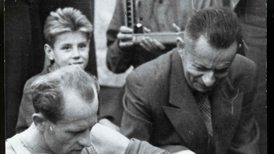 Josef Laufer y Emil Zátopek  (cerca de 1955) | Foto: e-Sbírky,  Národní muzeum,  CC BY 4.0