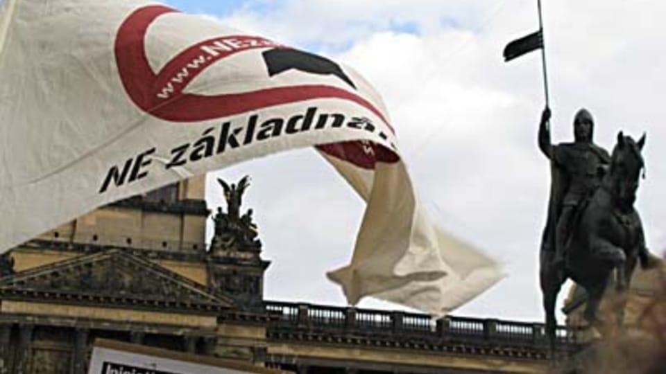 Demonstración en la plaza Venceslao  (Foto: Kristýna Maková)