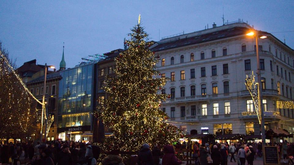 El árbol de Navidad en Brno,  foto: Ludmila Opltová