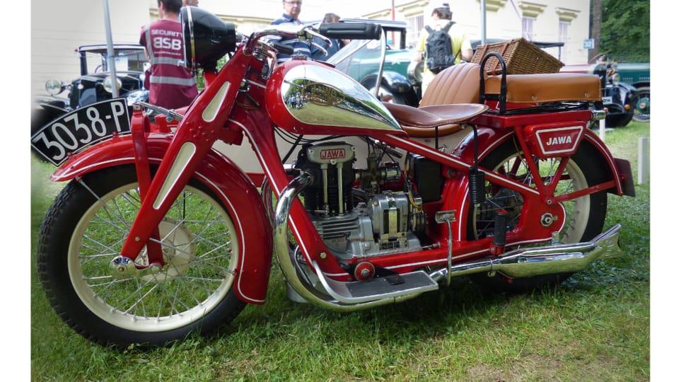 La motocicleta Jawa 350 SV,  fabricada desde 1934,  el modelo más exitoso de la marca antes de la Segunda Guerra Mundial. Foto: Radio Praga Internacional