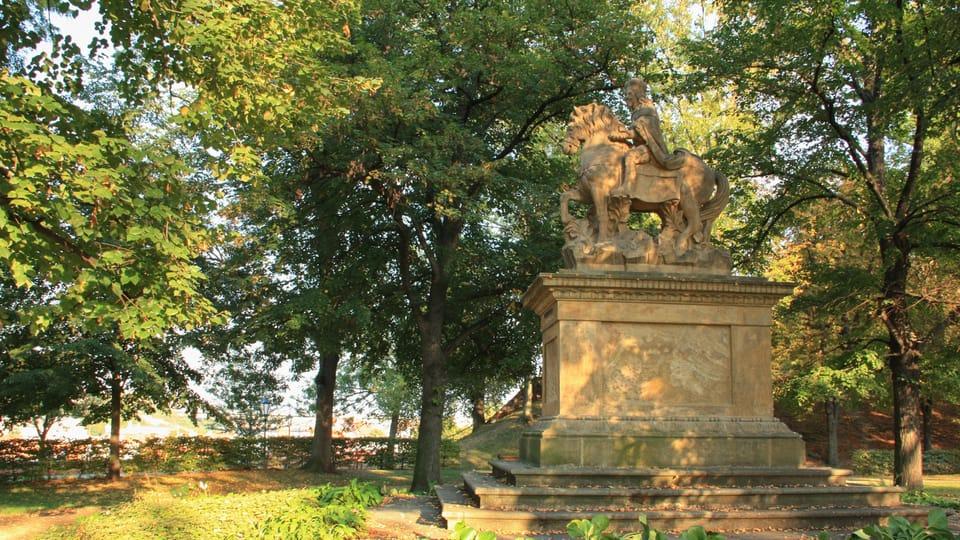 Estatua ecuestre del príncipe Venceslao en Vyšehrad,  foto: Barbora Němcová