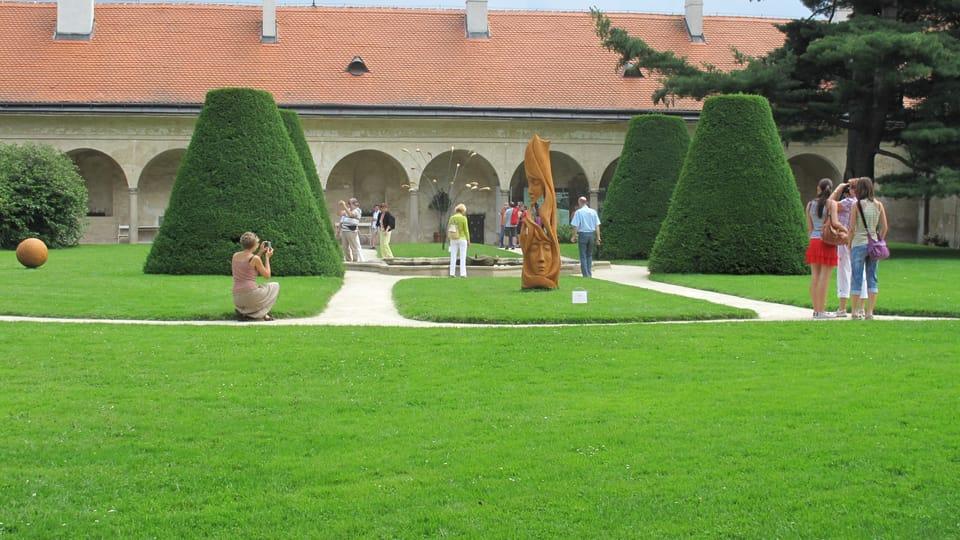 El jardín del Palacio de Telč,  foto: ČRo - RPI