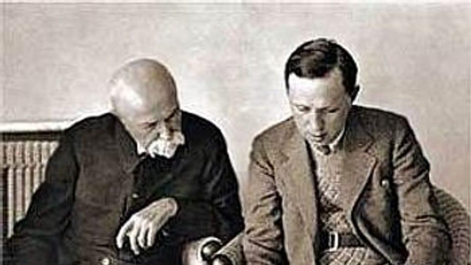 TGM y Karel Čapek,  foto: Wikimedia Commons,  public domain