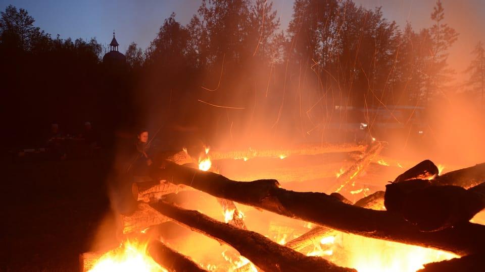 La quema de las brujas en la aldea de Liběchov,  cerca de Praga,  foto: Eva Turečková