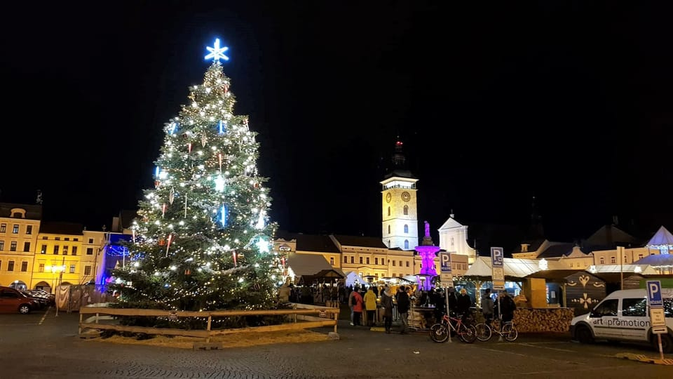 El árbol de Navidad en České Budějovice,  foto: Andrea Poláková