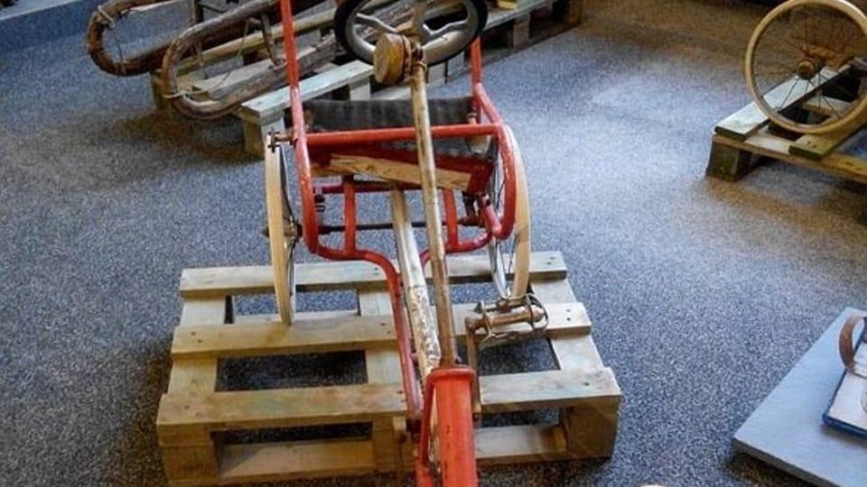 Un cuadriciclo hecho con un carrito de bebé,  foto: Dominika Bernáthová