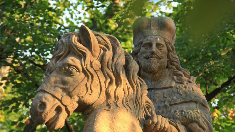 El santo tiene la cara del emperador Fernando III de la dinastía de los Habsburgo,  en cuyo aspecto se inspiró Bendl,  foto: Barbora Němcová