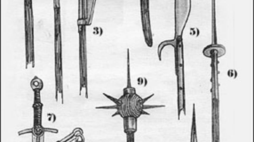 Armas  (el mayal es el número 8)