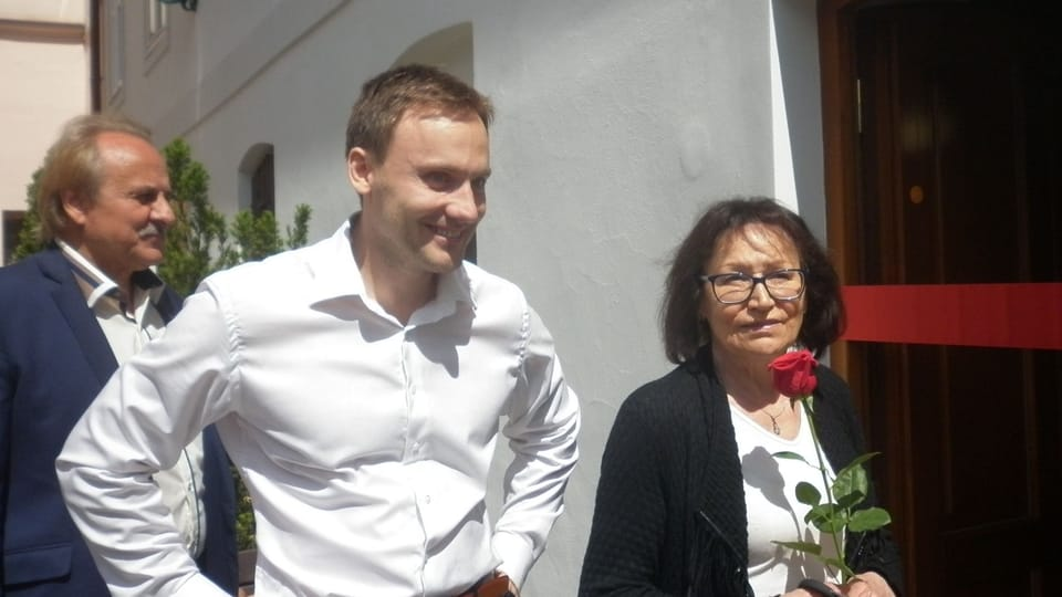 Jan Huňát con la cantante checa,  Marta Kubišová,  foto: Zdeňka Kuchyňová