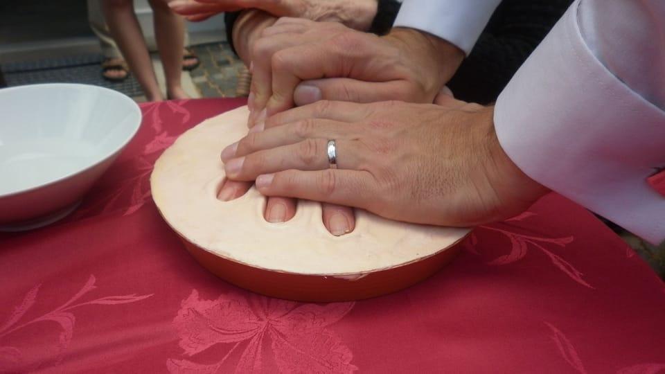 Impresión de la mano de Marta Kubišová,  foto: Zdeňka Kuchyňová