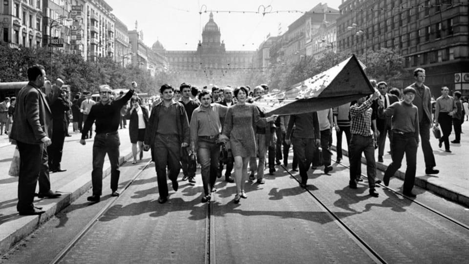 Foto: Libuše Kyndrová,  de la exhibición 'Invasión Soviética-Agosto de 1968'