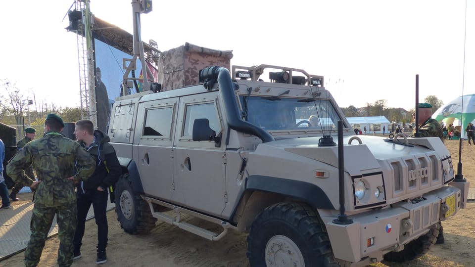 Vehículo blindado IVECO,  foto: Klára Stejskalová