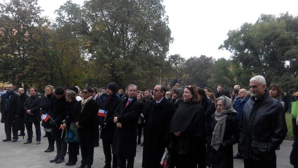 El acto de homenaje a Bernardo O´Higgins,  foto: Dominika Bernáthová