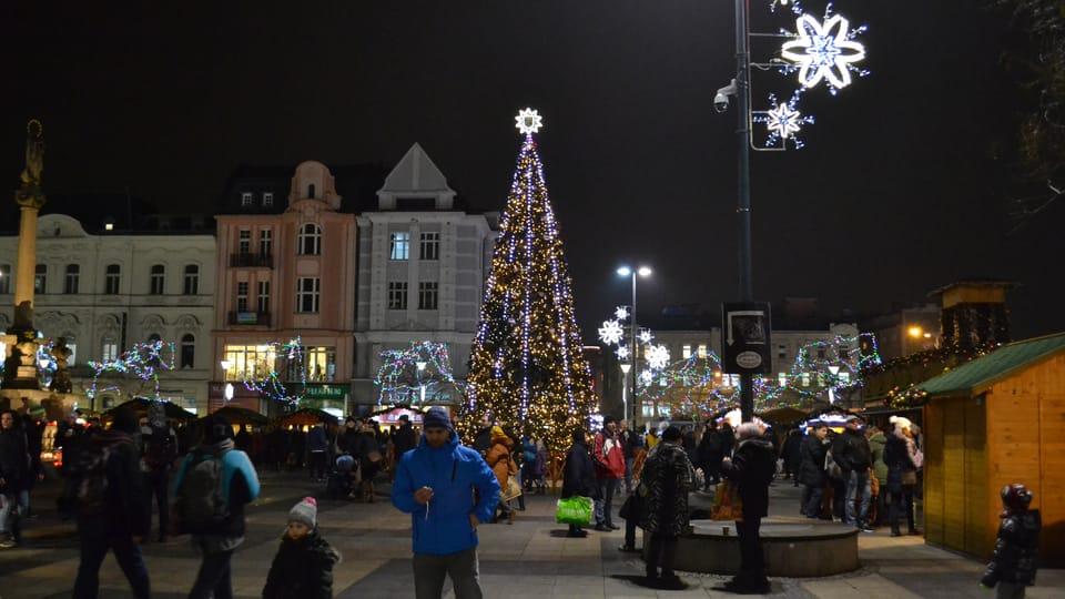 El árbol de Navidad en Ostrava,  foto: František Tichý
