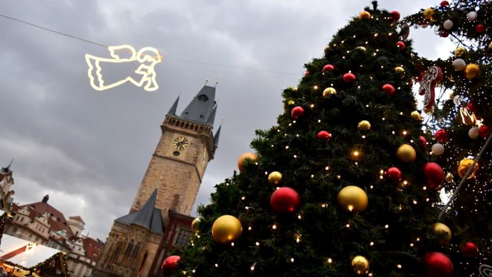 El árbol de Navidad en Praga,  foto: Ondřej Tomšů