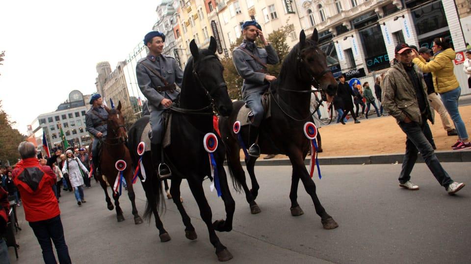 Celebraciones del 28 de octubre de 1918,  foto: Barbora Němcová