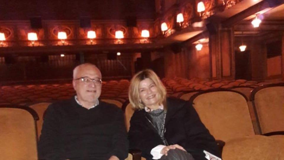 Jan Rybář,  dramaturgo del festival,  junto a Teresa Constantini,  foto: Ana Briceño