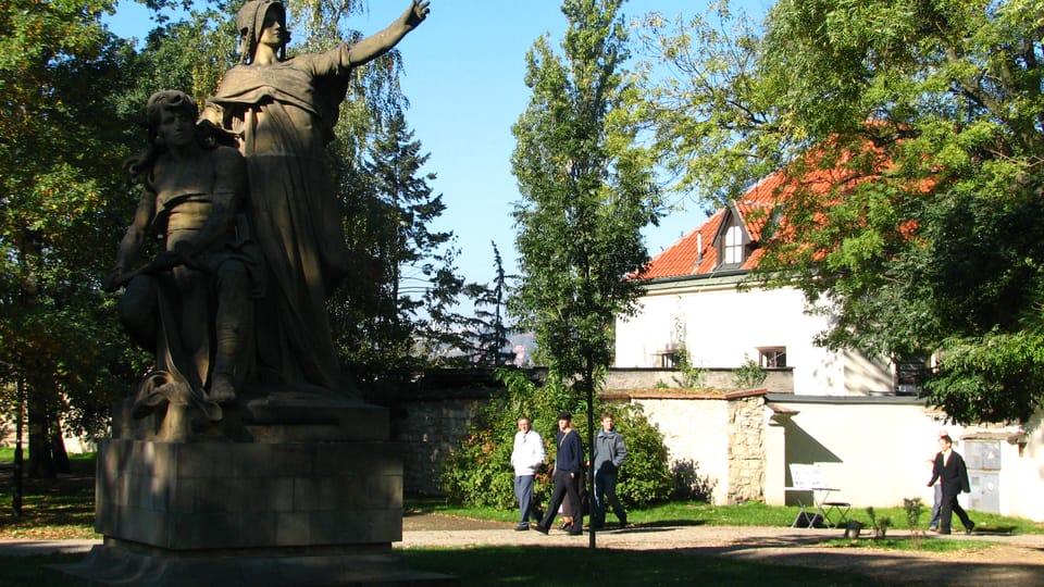 La estatua de Libuše y Přemysl,  Vyšehrad,  foto: Štěpánka Budková
