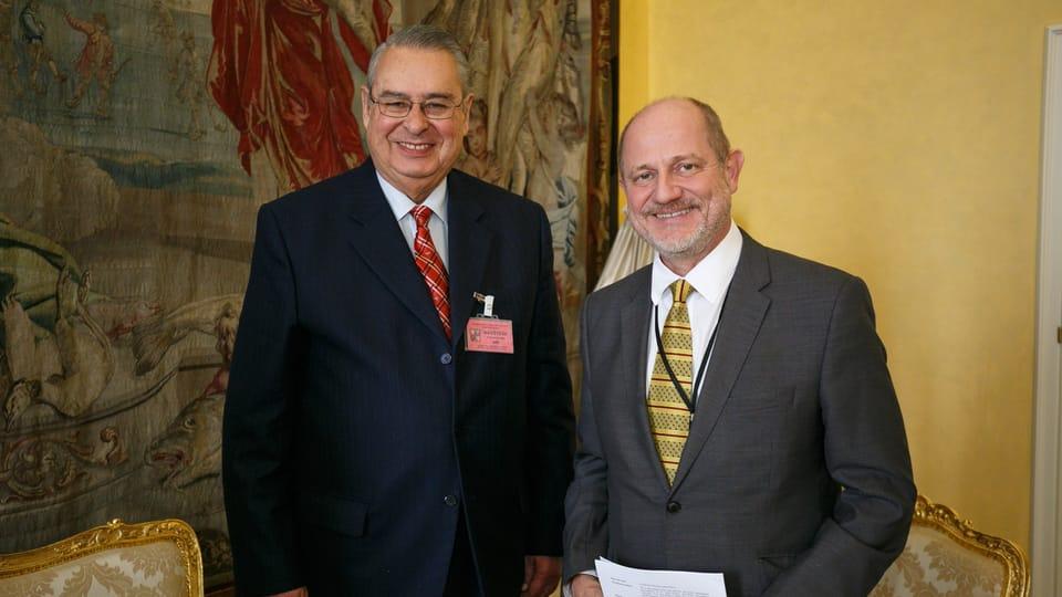 Allan Wagner y Vít Korselt,  director del Departamento América,  foto: Cortesía Embajada Perú