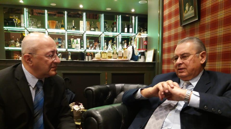 Allan Wagner en entrevista con Freddy Valverde,  foto: Cortesía Embajada Perú