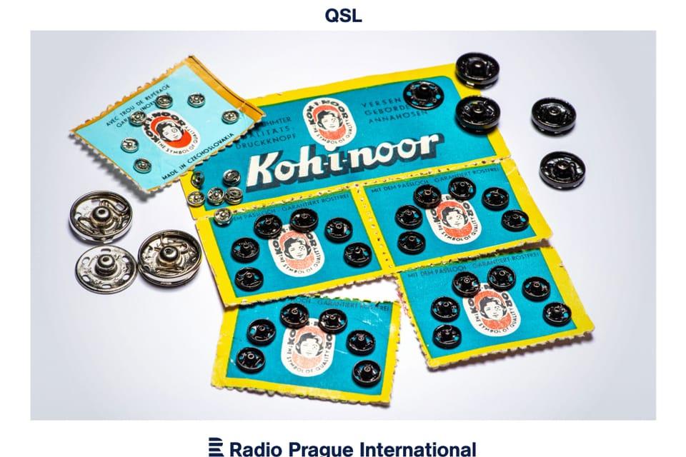 Los broches de presión de Kooh-i-noor,  inventados en 1902 por el proyectista Hynek Puc y el comerciante Jindřich Waldes.   Foto: Khalil Baalbaki,  Český rozhlas