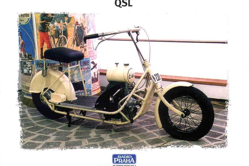 Scooter CAS,  Checoslovaquia 1921 Foto: Museo Técnico Nacional,  Praga