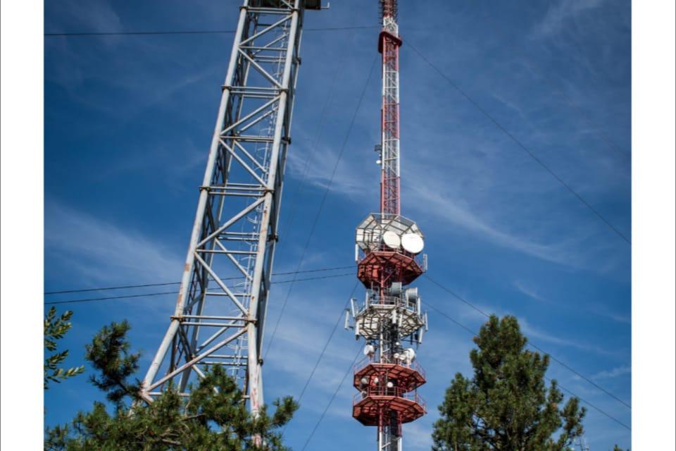 La antena de radiotelevisión de Javořice,  en la región de Vysočina,  foto: Andrea Filičková