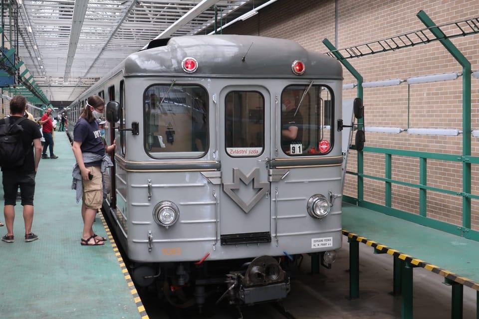 La cochera de metro de Kačerov   Foto: Štěpánka Budková,  Radio Prague International