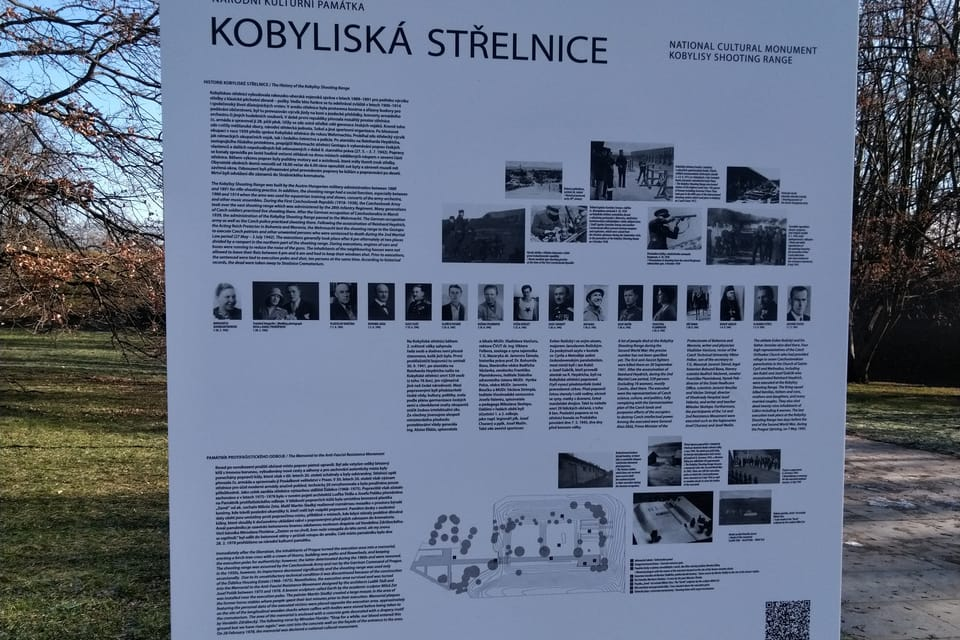 El campo de tiro de Kobylisy,  foto: Dominika Bernáthová