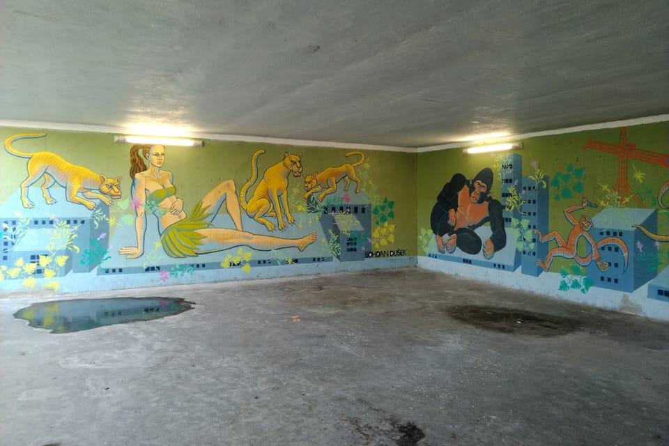 El arte en un paso subterráneo,  foto: Dominika Bernáthová