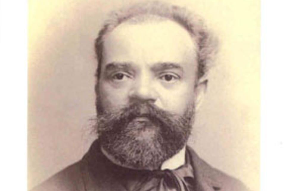 Antonín Dvořák,   (1841-1904) compositor,  postal sellada en la ciudad de Spillville,  EE.UU.,  donde Dvorák pasó el verano de 1893 Foto: Museo de la Música Checa