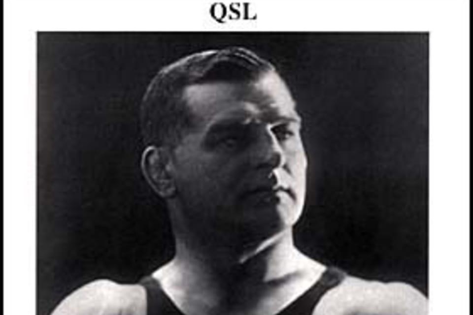 Gustav Frištenský   (1879-1957) Luchador. Campeón en lucha greco-romana del Imperio Austro-húngaro, 1902. Un año después campeón de Europa. Su carrera profesional duró más de 40 años. Foto: ČTKTarjeta QSL 2008