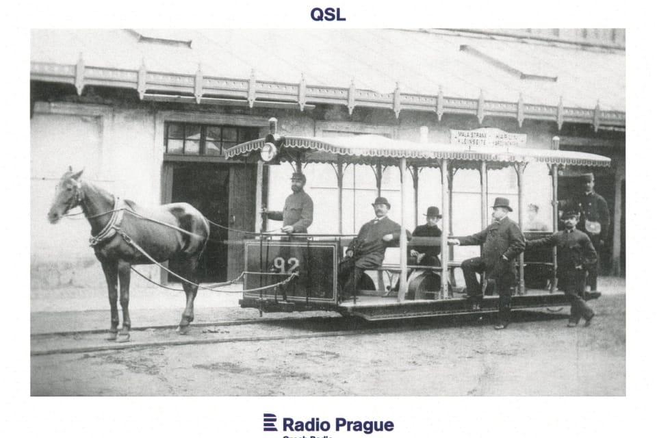 Tranvía de tracción animal en Praga,  foto: Archivo de la Empresa de Transporte Público de Praga