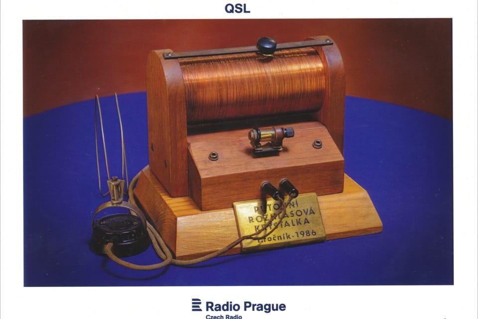 Radio de galena,  uno de los primeros receptores de radio,  foto: Khalil Baalbaki