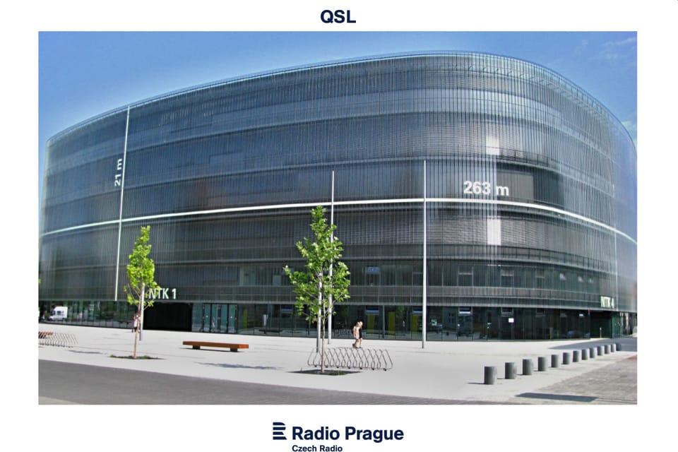 Tarjeta QSL 2019,  'La Biblioteca técnica nacional',  foto: Ondřej Tomšů