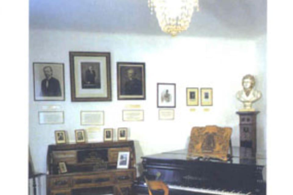 Josef Suk  (1874-1935),   interior del casa de Suk en la aldea de Křecovice,  foto: Museo de la Música Checa