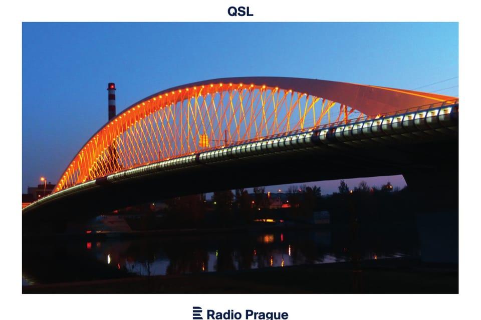 Tarjeta QSL 2019 - 'El puente de Troja',  Praga,  foto: Klára Stejskalová