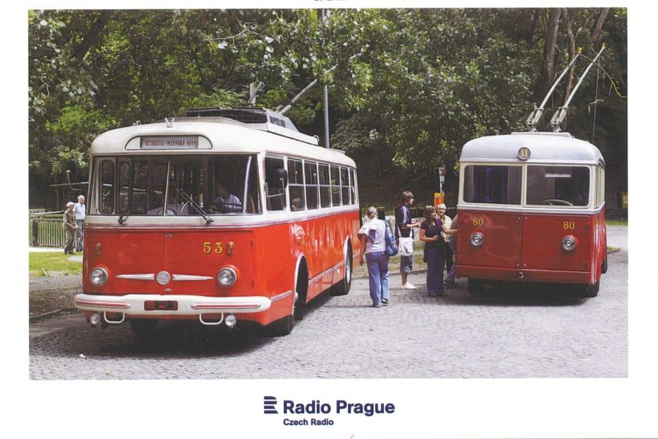 Trolebús Škoda Tr,  1960e,  foto: Marián Peiger,  ČTK